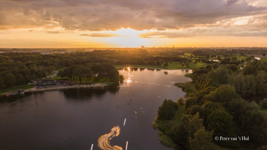 Wijthmenerplas Lakeside luchtfoto drone