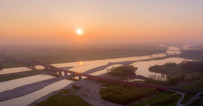 Hanzeboog IJsselbrug Luchtfoto drone