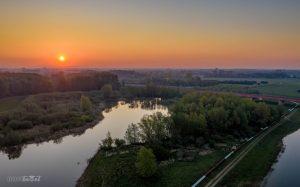 Engelse Werk Luchtfoto zonsopkomst IJsseldrone