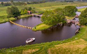 Luchtfoto Vechterweerd sluis Zwolle Dalfsen IJsseldrone