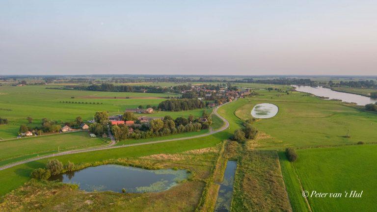 Wilsum IJssel luchtfoto drone