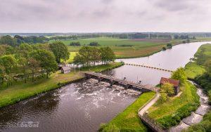 Luchtfoto Vechterweerd vistrap Zwolle Dalfsen IJsseldrone