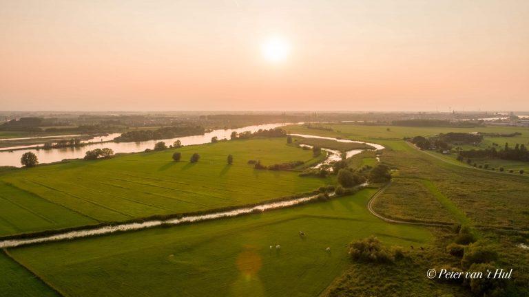 Molenbrug Kampen Wilsum luchtfoto drone