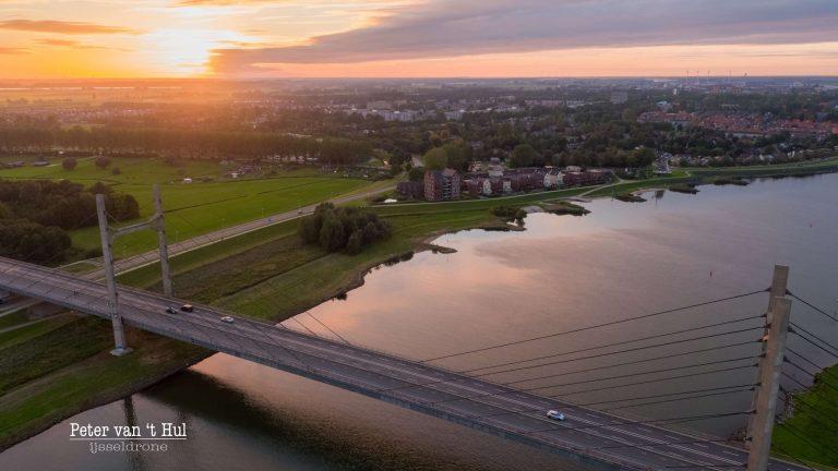 Molenbrug Kampen luchtfoto drone
