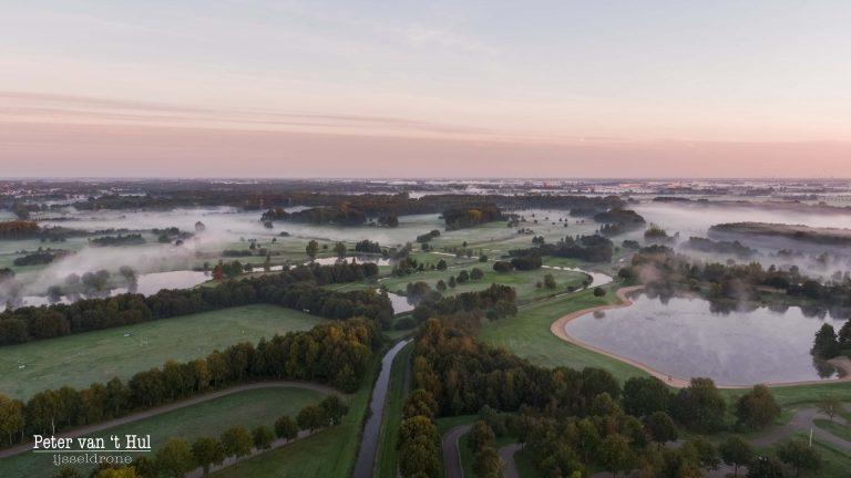 Wijthmenerplas Mist luchtfoto drone