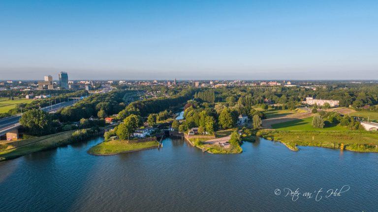 Katerveersluizen Zwolle luchtfoto drone