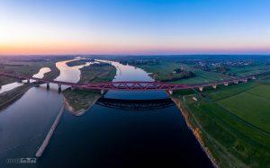 Hanzeboog panorama IJssel luchtfoto IJsseldrone